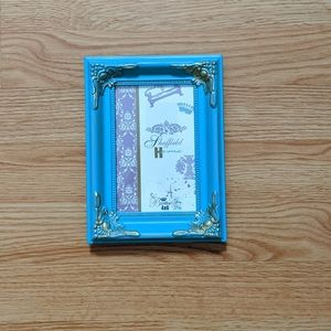 4x6 blue and gold picture frame